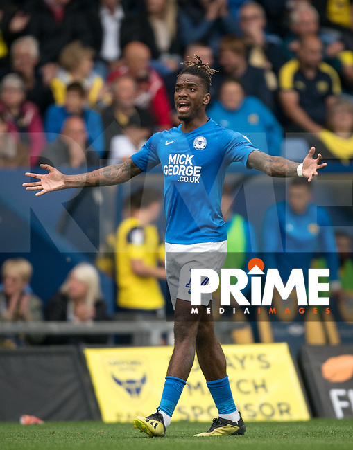 Ivan Toney of Peterborough United during the Sky Bet League 1 match between Oxford United and Peterborough at the Kassam Stadium, Oxford, England on 10 August 2019. Photo by Andy Rowland.