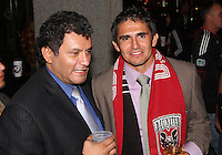 Marco Etcheverry with Jaime during festivities surrounding the final appearance of Jaime Moreno in a D.C. United uniform, at RFK Stadium, in Washington D.C. on October 23, 2010. Toronto won 3-2.