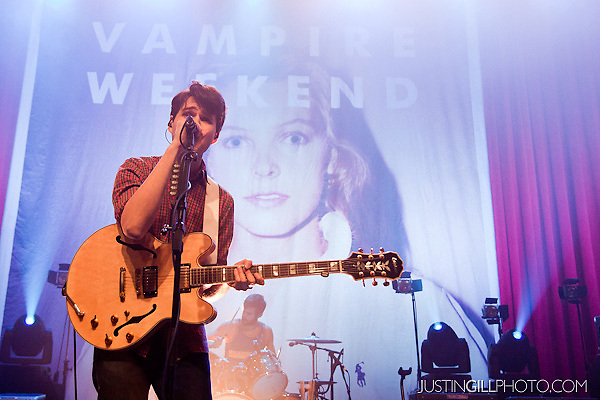 Live concert photo of Vampire Weekend @ Riviera Theater Chicago by http://www.justingillphoto.com