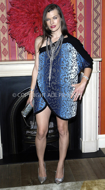 "WWW.ACEPIXS.COM . . . . .  ..... . . . . US SALES ONLY . . . . .....August 7 2009, London....Actress Milla Jovovich at a photocall for ""A Perfect Getaway"" held at the Charlotte Street Hotel on August 7 2009  in London........Please byline: FAMOUS-ACE PICTURES... . . . .  ....Ace Pictures, Inc:  ..tel: (212) 243 8787 or (646) 769 0430..e-mail: info@acepixs.com..web: http://www.acepixs.com"