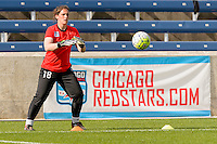 Bridgeview, IL, USA - Sunday, May 29, 2016: Chicago Red Stars goalkeeper Michele Dalton (18) before a regular season National Women's Soccer League match between the Chicago Red Stars and Sky Blue FC at Toyota Park. The game ended in a 1-1 tie.