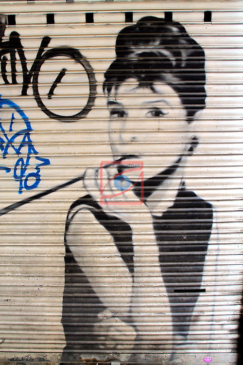 Street Art-Graffittis.<br /> Barcelona - El Raval.