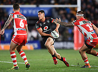 Roger Tuivasa-Sheck.<br /> NRL Premiership rugby league. Vodafone Warriors v St George Illawarra. Mt Smart Stadium, Auckland, New Zealand. Friday 20 April 2018. &copy; Copyright photo: Andrew Cornaga / www.Photosport.nz