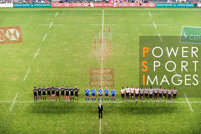 Beginning of the Cup final between New Zealand and Fiji during the HSBC Hong Kong Rugby Sevens 2016 on 10 April 2016 at Hong Kong Stadium in Hong Kong, China. Photo by Marcio Machado / Power Sport Images
