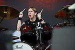 Michael Thomas of Bullet for My Valentine performs during the 2013 Rock On The Range festival at Columbus Crew Stadium in Columbus, Ohio.