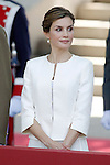 Queen Letizia of Spain attends the 2015 Armed Forces Day Ceremony at the Plaza de la Lealtad. June 6,2015. (ALTERPHOTOS/Acero)