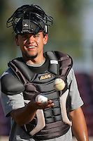 May 26, 2010: Jose Felix of the Bakersfield Blaze during game against the Inland Empire 66'ers at Arrowhead Credit Union Park in San Bernardino,CA.  Photo by Larry Goren/Four Seam Images