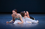 Svetlana Zakharova and Andrei Merkuriev from the Bolshi Ballet performing 'Tristan & Isolde' during the rehearsal for 'Stars of the 21st Century' at the David H. Koch Theater at Lincoln Center  on October 18, 2012 in New York City.