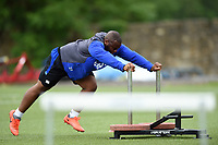 Beno Obano of Bath Rugby in action. Bath Rugby pre-season S&C session on June 22, 2017 at Farleigh House in Bath, England. Photo by: Patrick Khachfe / Onside Images