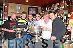 Brian Carty, Brian O'Seanachain, Barry John Keane, James & John O'Sullivan & Shane Enright at the Kingdom Bar on Saturday night last.