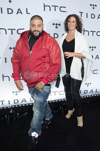 BROOKLYN, NY - OCTOBER 20: DJ Khaled on arrivals for TIDALx1020 Concert at Barclays Center in Brooklyn, NY on October 20, 2015. Credit: Abel Fermin/MediaPunch