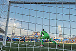Goalkeeper Vicente Guaita Panadero of Getafe CF seen behind net goal during the La Liga 2017-18 match between Getafe CF and Valencia CF at Coliseum Alfonso Perez on December 3 2017 in Getafe, Spain. Photo by Diego Gonzalez / Power Sport Images