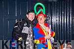 Noel  O Murchu. with Kenny the Clown at the Castleisland Christmas lights Event on Friday