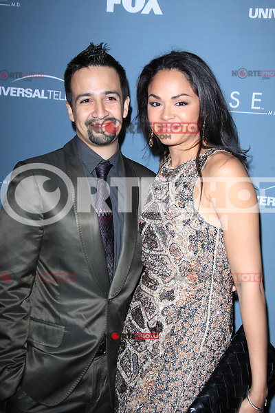 Lin-Manuel Miranda and Karen Olivo at Fox's 'House' series finale wrap party at Cicada on April 20, 2012 in Los Angeles, California. © mpi21/MediaPunch Inc.