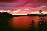 Phantom Ship in Crater Lake<br /> Rim Drive at Kerr Notch<br /> Crater Lake National Park<br /> Cascade Range,  Oregon