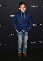 "WESTWOOD, CA - FEBURARY 13:  Sam Humphrey at the Los Angeles premiere of ""Annihilation"" at the Regency Village Theatre on February 13, 2018 in Westwood, California. (Photo by Scott Kirkland/PictureGroup)"