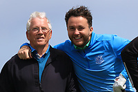 Noel Kelly and Gerard Dunne (Co.Louth) on the 10th tee during Round 4 of The East of Ireland Amateur Open Championship in Co. Louth Golf Club, Baltray on Monday 3rd June 2019.<br /> <br /> Picture:  Thos Caffrey / www.golffile.ie<br /> <br /> All photos usage must carry mandatory copyright credit (© Golffile | Thos Caffrey)