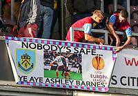 Burnley fans enjoy the pre-match atmosphere<br /> <br /> Photographer Alex Dodd/CameraSport<br /> <br /> UEFA Europa League - Third Qualifying Round 2nd Leg - Burnley v Istanbul Basaksehir - Thursday 16th August 2018 - Turf Moor - Burnley<br />  <br /> World Copyright © 2018 CameraSport. All rights reserved. 43 Linden Ave. Countesthorpe. Leicester. England. LE8 5PG - Tel: +44 (0) 116 277 4147 - admin@camerasport.com - www.camerasport.com