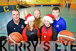Getting all set for the annual Castleisland Christmas Basketball blits which starts on St Stephens day were Maurice Casey, Hannah O'Connell, Denis Porter, Aine O'Connor and Darragh Jones.