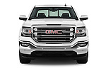 Car photography straight front view of a 2017 GMC Sierra-1500 Crew-Cab-Short-Box-SLT 4 Door Pickup Front View
