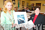 CIVIC AWARD: Receiving a special civic award on behalf of Tralee Town Council from Mayor Miriam McGillycuddy on Friday was former County Librarian, Kathleen Browne.   Copyright Kerry's Eye 2008