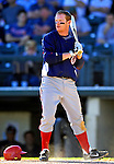 5 March 2007: Washington Nationals first baseman Robert Fick in action against the Atlanta Braves at Disney's Wide World of Sports in Orlando, Florida. 2007 marks the 10th year that the Braves have been training at the Disney facility.<br /> <br /> Mandatory Photo Credit: Ed Wolfstein Photo