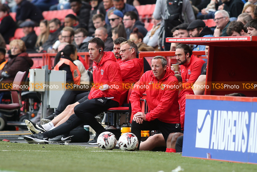 Lee Bowyer, Charlton Athletic's Assistant First Team Coach during Charlton Athletic vs Swindon Town, Sky Bet EFL League 1 Football at The Valley on 30th April 2017