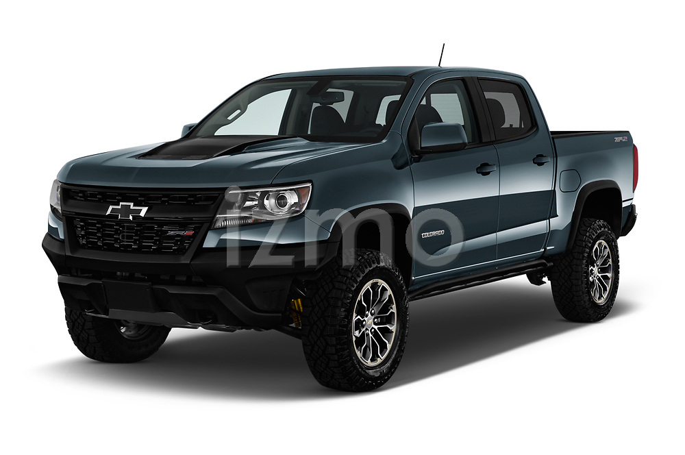 2017 Chevrolet Colorado ZR2 Crew 4 Door Pick Up angular front stock photos of front three quarter view