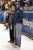 NBA Hall of Fame basketball player David Robinson. The Pittsburgh Panthers defeated the Notre Dame Fighting Irish 28-21 at Heinz Field, Pittsburgh, Pennsylvania on November 9, 2013.