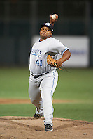 West Michigan Whitecaps pitcher Melvin Mercedes #41 during a Midwest League game against the South Bend Silver Hawks at Coveleski Stadium on August 15, 2012 in South Bend, Indiana.  West Michigan defeated South bend 7-1.  (Mike Janes/Four Seam Images)