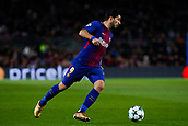 5th December 2017, Camp Nou, Barcelona, Spain; UEFA Champions League football, FC Barcelona versus Sporting Lisbon; Luis Suarez of FC Barcelona turns goalwards on the ball