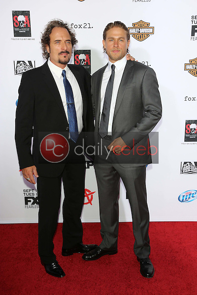 """Kim Coates, Charlie Hunnam<br /> at the """"Sons of Anarchy"""" Season Six Premiere Screening, Dolby Theatre, Hollywood, CA 09-07-13<br /> David Edwards/Dailyceleb.com 818-249-4998"""