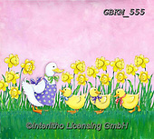 Kate, EASTER, OSTERN, PASCUA, paintings+++++Duck & 3 ducklings 2.,GBKM555,#e#, EVERYDAY ,ducks,