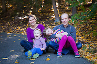 Sunny Fall Family Session on the Wellesley Campus