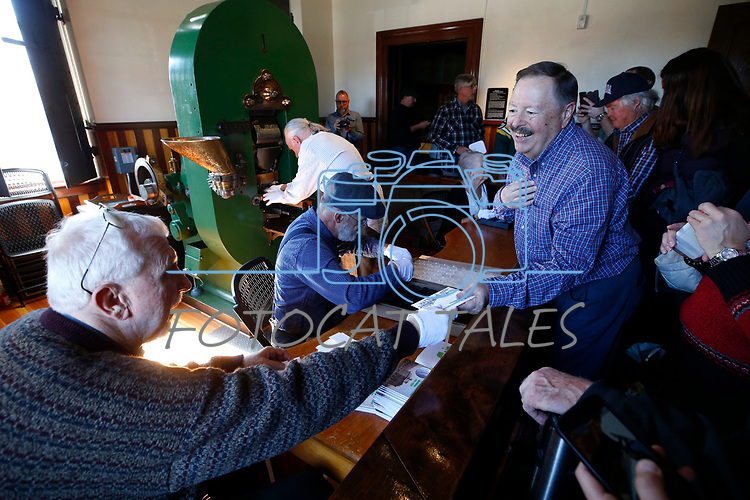 Hundreds of people lined up to purchase commemorative sesquicentennial medallions during at the Carson City Mint at the Nevada State Museum, in Carson City, Nev. on Tuesday, Feb. 4, 2020. <br /> Photo by Cathleen Allison/Nevada Momentum