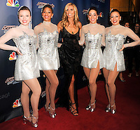 NEW YORK CITY, NY, USA - SEPTEMBER 17: Heidi Klum and The Rockettes attend the 'America's Got Talent' Season 9 Finale held at the Radio City Music Hall on September 17, 2014 in New York City, New York, United States. (Photo by Celebrity Monitor)