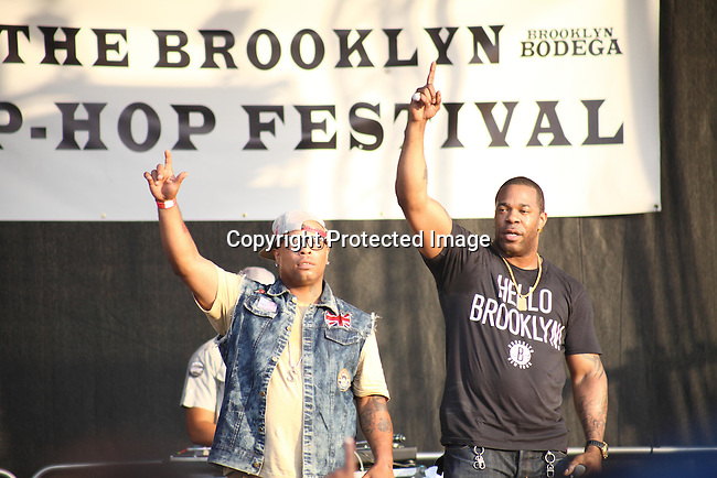 """Spliff Star and Busta Rhymes Perform at the Final Day of 2012 Brooklyn Festival """"Busta Rhymes & Friends"""" Held at the Brooklyn Bridge Park, NY 7/14/12"""