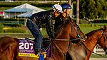 October 27, 2019 : Breeders' Cup Distaff entrant Paradise Woods, trained by John A. Shirreffs, exercises in preparation for the Breeders' Cup World Championships at Santa Anita Park in Arcadia, California on October 27, 2019. John Voorhees/Eclipse Sportswire/Breeders' Cup/CSM