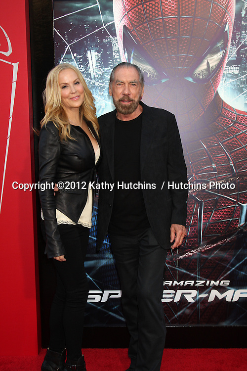 """LOS ANGELES - JUN 28:  Eloise and John Paul DeJoria arrives at the """"The Amazing Spider-Man"""" Premiere at Village Theater on June 28, 2012 in Westwood, CA"""