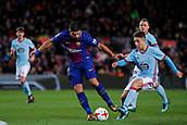 11th January 2018, Camp Nou, Barcelona, Spain; Copa del Rey football, round of 16, 2nd leg, Barcelona versus Celta Vigo; Luis Suarez of FC Barcelona shoots the ball