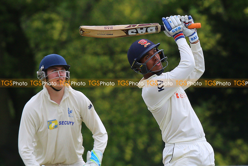 Kishen Velani in batting action for Wanstead during Wanstead and Snaresbrook CC vs Shenfield CC, Shepherd Neame Essex League Cricket at Overton Drive on 7th May 2016