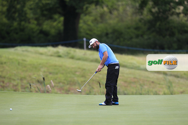 Andy Sullivan (ENG) on the 13th green during Round 3 of the HNA Open De France  at The Golf National on Saturday 1st July 2017.<br /> Photo: Golffile / Thos Caffrey.<br /> <br /> All photo usage must carry mandatory copyright credit      (&copy; Golffile | Thos Caffrey)