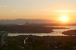 Seattle, Lake Washington, Olympic Mountains, sunset, Washington State, Pacific Northwest, USA