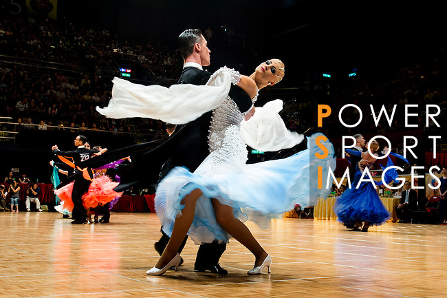 Dmitri Kolobov and Signe Busk of Denmark during the WDSF GrandSlam Standard on the Day 2 of the WDSF GrandSlam Hong Kong 2014 on June 01, 2014 at the Queen Elizabeth Stadium Arena in Hong Kong, China. Photo by AItor Alcalde / Power Sport Images