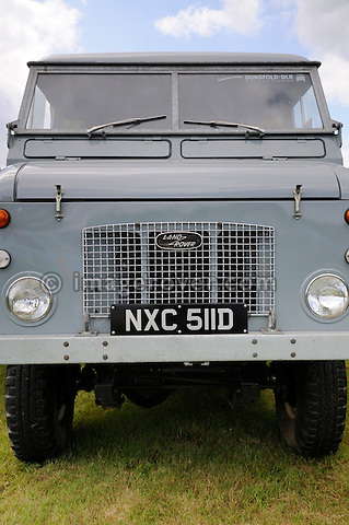 1966 Land Rover Forward Control 110 Series 2B Diesel RHD chassis number 1 - NXC 511D.  Dunsfold Collection of Land Rovers Open Day 2011, Dunsfold, Surrey, UK. --- No releases available, but releases may not be necessary for certain uses. Automotive trademarks are the property of the trademark holder, authorization may be needed for some uses. --- Vehicle Information: Belonging to the Dunsfold Collection of Land Rovers: Chassis No. 33500001A, Registration NXC 511D, Engine 2286cc Diesel. Belonging to the Dunsfold Collection of Landrovers. --- Vehicle History: This Forward Control is chassis number 1, 2b diesel right hand drive. It has had a full restoration in 1997. There were two types of Forward Controls in production in the 60s, the 2a and 2b. Production started in 1962 and ran to 1972. Around 5450 units were produced in total. The most common engine was the 2.6 six-cylinder petrol. Load capacity was 30cwt. The 2a had a very similar chassis to the normal bonneted control model with 109 inch wheelbase, the 2b had a 110 inch wheelbase chassis. A chassis cab could be converted to many useful roles. This diesel powered F/C actually has had little practical use due to its top speed of 40mph.