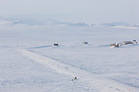 Musher Mitch Seavey heads out of the checkpoint of Solomon in second place, during the 2008 All Alaska Sweepstakes sled dog race.
