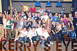 BIRTHDAY FUN: John Fitzgerald, O'Rahillys Villas, Tralee (seated centre) having a great time celebrating his 21st birthday with a very large group of family and friends at the Abbeygate hotel, Tralee on Saturday.