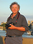 John Kieffer along the Seine River, Paris, France,