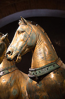 Bronze Horse Sculptures in Saint Mark's Basilica, Venice, Italy
