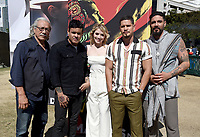 FX FEARLESS FORUM AT SAN DIEGO COMIC-CON© 2019: L-R: Cast Member Edward James Olmos, Co-Executive Creator Elgin James and Cast Members Sarah Bolger, JD Pardo and Clayton Cardenas during the MAYANS M.C. activation on Saturday, July 20 at SAN DIEGO COMIC-CON© 2019. CR: Frank Micelotta/FX/PictureGroup © 2019 FX Networks